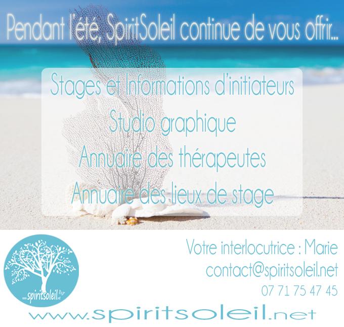 SpiritSoleil continue de vous offrir ses services pendant l'été