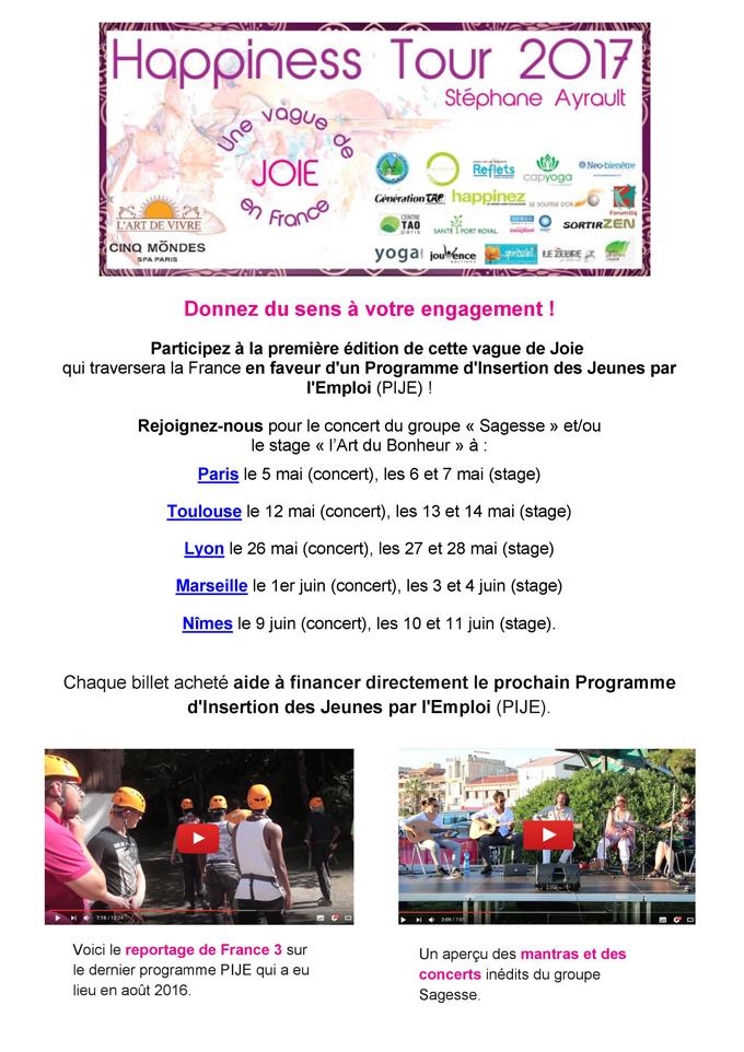 Happiness Tour - Une vague de joie en France