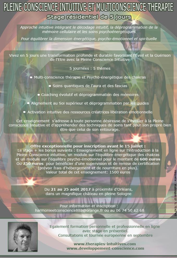 Pleine conscience intuitive et multiconscience thérapie