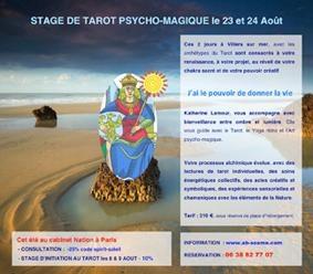 Katherine Lamour, Thérapeute psycho-corporel et Tarologue